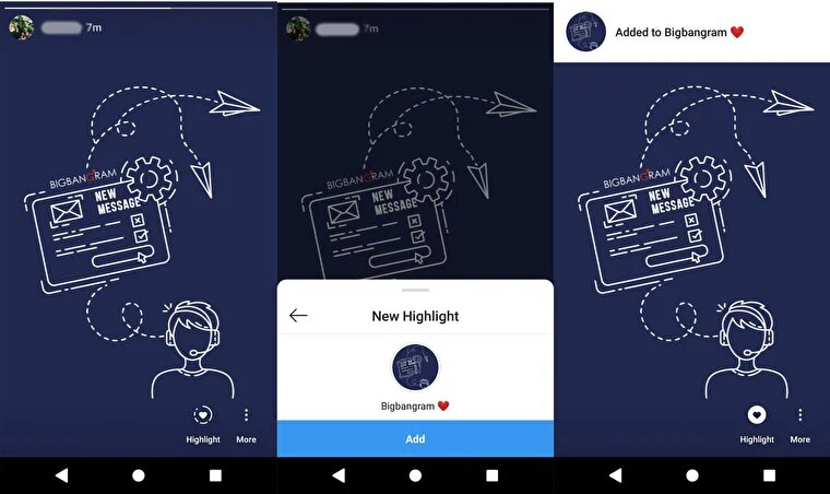 saving Instagram Stories to highlights