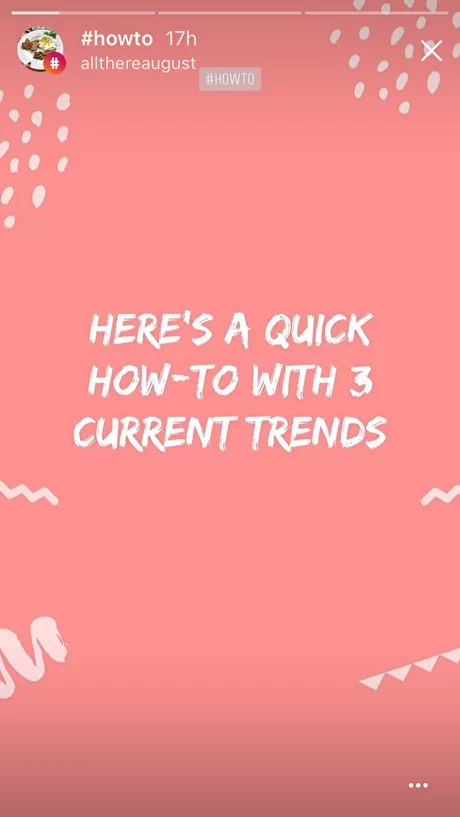 Quick how-to with current trend