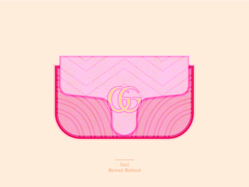 Gucci and pink purse