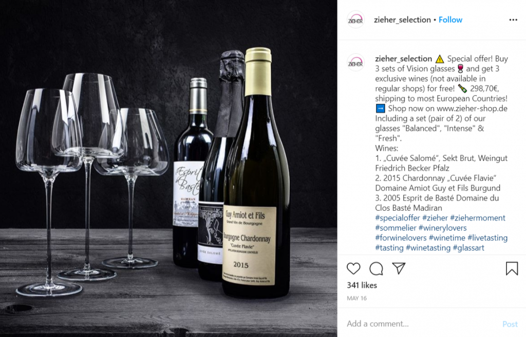 examples of how to announce special offers and discounts on Instagram