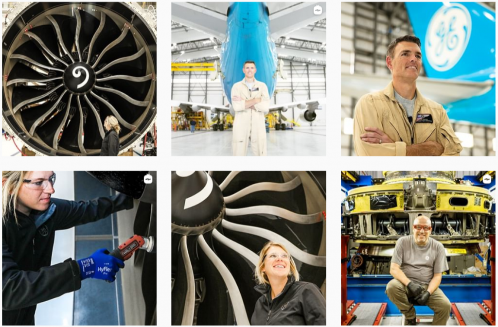 the Instagram gallery of General Electric