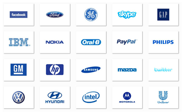 companies with blue logos