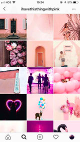 pink dominating color in ig account