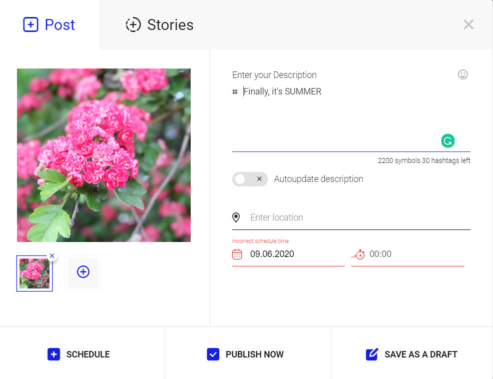 the process of scheduling instagram content with Ingramer Post Planner and Scheduler
