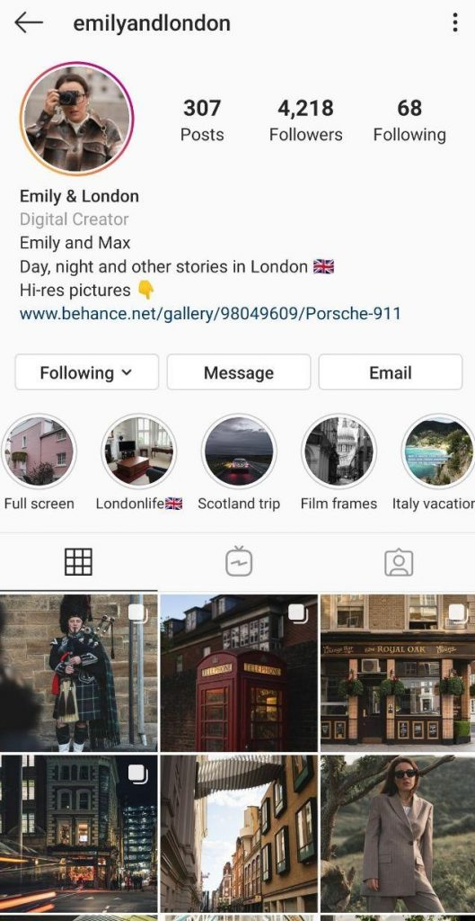examples of simple covers for Instagram Highlights